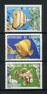 DJIBOUTI 1978 N° 488/490 ** Neufs MNH Superbes C 4.50 € Faune Poissons Fishes Chelmon Rostratus Fauna Animaux - Gibuti (1977-...)