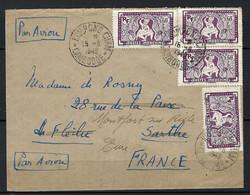 ⭐ Cambodge - Kampong Cham Pour La France - Par Avion - Le 15 / 06 / 1949 ⭐ - Kambodscha