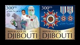 Djibouti 2020 Mih. 3650/51 Chinese Anti-pandemic COVID-19 Coronavirus Medical Team. Medals MNH ** - Dschibuti (1977-...)