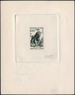 NIGER Poste EPA - 108, épreuve D'artiste En Noir, Signée Cami: 100f. Lion - Non Classificati