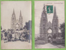 Carte Photo + CPA SOISSONS Abbaye Saint Jean Des Vignes 02 Aisne - Soissons