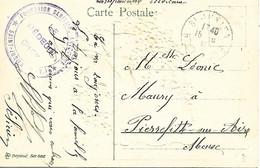 87-cachet Formation Sanitaire Autonome à St Junien Sur Belle CP De Fleurs En Relief En 1916 - 1. Weltkrieg 1914-1918