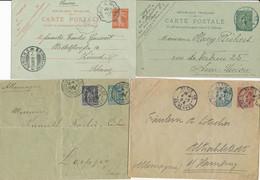 Collection De 8 ENTIERS CP ENVELOPPES DESTINATION ETRANGER - SAGE SEMEUSE - Lots Et Collections : Entiers Et PAP