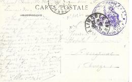 87-cachet Hôpital Jeanne D'Arc (N°162 Bis) à Limoges Sur CP En 1915 - 1. Weltkrieg 1914-1918