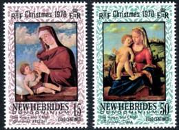 "Nles-Hebrides YT 302 & 303 "" Noël, Anglais "" 1970 Neuf** - Nuovi"