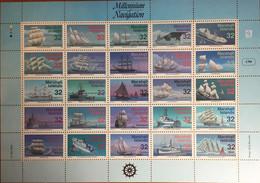 Marshall Islands 1996 Millennium Navigation Ships Extra Large Sheetlet MNH - Benin – Dahomey (1960-...)