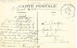 87-cachet Hôpital Temp.N°35 à Saint-Léonard Sur Belle CP En 1915 - 1. Weltkrieg 1914-1918