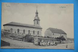 Tellin 1909: Groupe Scolaire Devant L'église. RARE - Tellin