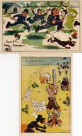 """2 Cartes """"la Vie Dans L'armée De L'air Vue Par Ses Soldats"""" Humoristique - Humor"""