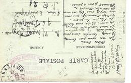 87-cachet Hôpital Bénévole N°141 Bis -Formation Théodore Haviland -Faubourg Monjovis Sur Belle CP En 1916 - 1. Weltkrieg 1914-1918
