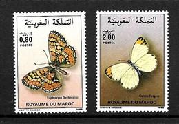 MAROC 1985 PAPILLONS YVERT N°996/97 NEUF MH** - Papillons