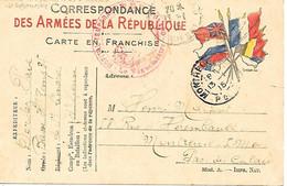 87-cachet Hôpital Temp N°35 à St Léonard Sur CP Militaire En 1915 - 1. Weltkrieg 1914-1918
