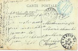 87-cachet Salles Militaires De L'Hospice Mixte De Limoges Sur CP En 1917 - 1. Weltkrieg 1914-1918