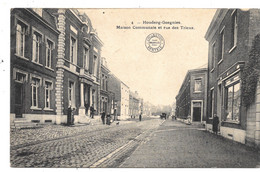 Houdeng-Goegnies NA33: Maison Communale Et Rue Des Trieux 1913 - La Louvière