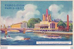 D75  PARIS Exposition De 1937  Pavillon Du Gaz Et Le Restaurant Potel Et Chabot - Ausstellungen