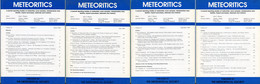 Meteoritics & Planetary Science 1988  (4 Numbers) - Astronomy