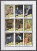 1995Grenada Grenadines2050-2058KLBirds - Sierra Club10,00 € - Eulenvögel