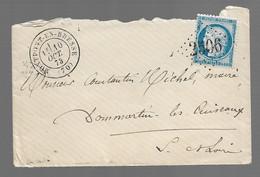 MONTPONT EN  BRESSE  : 1873 : GC 2506  + CàD  Type 17  :  ( Saône Et Loire ) : - 1849-1876: Periodo Classico