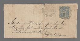 MONTPONT EN  BRESSE  : 1890 : Cachet à Date  Type 20 Sur Sage 15c Bleu :  ( Saône Et Loire ) : - 1877-1920: Periodo Semi Moderno