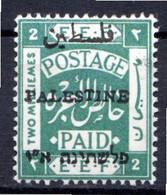 PALESTINE - (Administration Civile) - 1920-21  - N° 16B - 2 M. Vert - (Dentelé 14) - Palästina