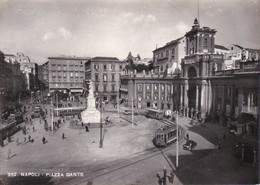 NAPOLI - PIAZZA DANTE - FILOBUS / TRAM - 1952 - Napoli (Naples)