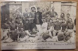 Carte Postale Photo Ecole Nationale De Gymnastique De Joinville Le Pont Divisions Des Instituteurs 1909 - Gymnastiek