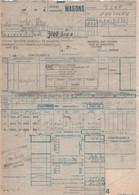 S.N.C.F WAGONS CONTREXEVILLE (88) Pour PREMERY (58) Facture Du 10/09/1972 - Transportmiddelen