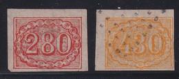 BRASIL - 1854 (430R FAUX Des FRERES SPIRO ? ENVIRON 1870) - YVERT N°21 (LEGER DEFAUT) + 22 (TB/VG) - COTE = 350 EUROS - - Gebraucht