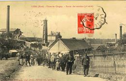LYRE-USINE DE CHAGNY-SORTIE DES OUVRIERS-(1ère Série)-EN 1910- - Andere Gemeenten