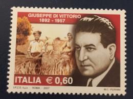 2007 - Italia - Giuseppe Di Vittorio ( 1892-1957 ) E.0,60 - 2001-10:  Nuovi