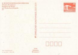 DPP 18/44**  X. Kunstausstellung Der DDR - Theodor Rosenhauer - Radebeul Im Winter Mit Wackerbarth-Kapelle - Postales Privados - Nuevos