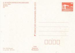 DPP 18/72**  X. Kunstausstellung Der DDR - Rainer Zille -  Bodden - Postales Privados - Nuevos