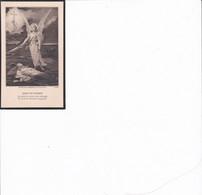 """IMAGE PIEUSE """"DIEU ET PATRIE""""POUR PAUL FONTAINE MORT POUR LA FRANCE A 20ANS EN OCTOBRE 1918 REF 69635 - Devotieprenten"""