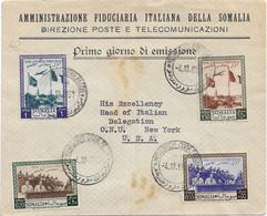 1951 SOMALIA A.F.I.S. 1 Consiglio Territoriale, Su Busta 1 Giorno Viaggiata - Somalia (AFIS)