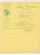 Cafés Fins - Cafés Paulista - Armando De Godoy - Bruxelles - Letter 1934 - Food