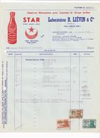 Essences Ménagères Pour Liqueurs Et Sirops Surfins - Laboratoires R. Liévin & Cie Dave-Nord Namur 1950 - Facture - Food