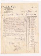 J. Penninckx - Heylen - Erps-Kortenberg 1942 - Factuur - Food
