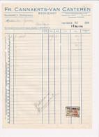 Fr. Cannaerts Van Casteren Booischot - Groothandel In Voedingswaren - 1958 - Factuur - Food