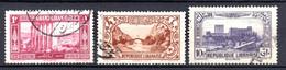 Colonies Françaises Grand Liban 1925/30  N°54,139 + Poste Aérienne N°65  0,30 €   (cote 2,70 €  3 Valeurs) - Used Stamps