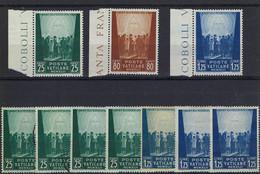 Vatican - Au Profit Des œuvres Pour Prisonniers De Guerre 1942+1943+1944 - N° 95/7, 102/4, 109/11 - **,*,o - - Unused Stamps
