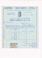 Koffie Zilveren Ster Jos Segers 1958 - Factuur - Food