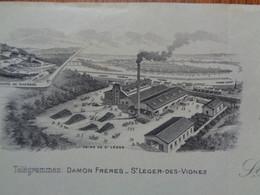 FACTURE - 58 - DEPARTEMENT DE LA NIEVRE - ST LEGER DES VIGNES 1913 - FABRIQUES DE PLATRES : DAMIEN FRERES - Unclassified