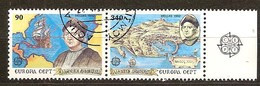 Cept 1992 Grèce Greece Griekenland Yvertn° 1784-1785 (o) Oblitéré  Cote 4,50  Euro - 1992