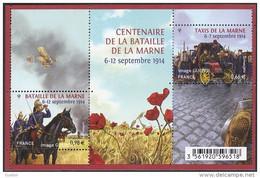 """2014 - BF N° F4899 """" CENTENAIRE DE LA BATAILLE DE LA MARNE 6-12 SEPTEMBRE 1914 """" NEUF / TBE / NON PLIÉS - Ongebruikt"""