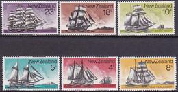 """1975-(MNH=**) Nuova Zelanda S.6v.""""vascelli Storici"""" - Nuevos"""