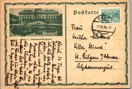 5534  - Wien , Schwarzenberg Palais , Postkarte Graz Nach St. Gilgen - Gelaufen 1934 - Storia Postale