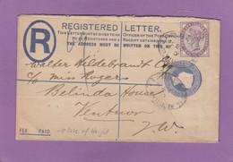 LETTRE RECOMMANDEE POUR VETNOR,ILE DE WHIGHT. 1894. - Lettres & Documents