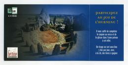 Lot De 2 CP. L'Hermine, Site De Références Bibliographiques Sur La Bretagne. COBB. 1 CP Avec Talon Détachable, 1 CP Sans - Advertising