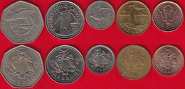 Barbados Set Of 5 Coins: 1 Cent - 1 Dollar 1973-2017 - Barbados