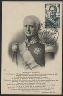 """N° 662 4Fr Vert  BUGEAUD Sur CARTE MAXIMUM + Cachet Illustré """"SEMAINE DE L'ARMEE PARIS 14/7/51"""" - 1940-49"""